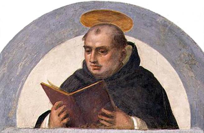 Santo Tomás leyendo
