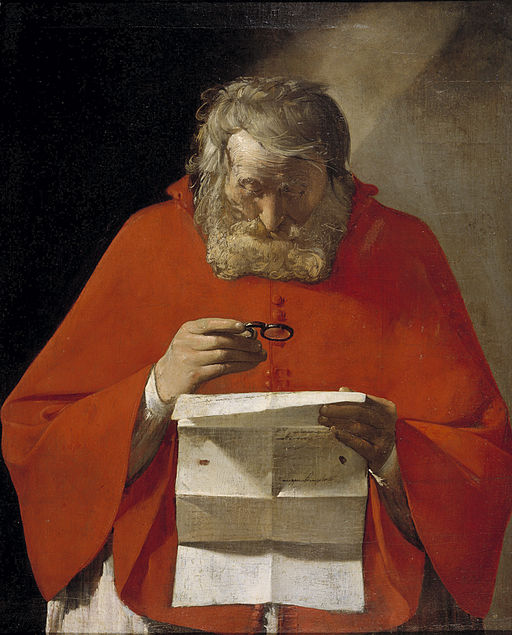 San Jerónimo leyendo una carta